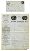 Grille / N° 3 Càd T 15 LA GUILLOTIERE (68) 1 FEVR. 49 Sur Lettre Avec Texte Et Bel En-tête... - 1849-1850 Ceres
