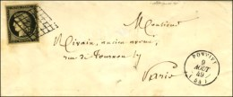 Grille / N° 3 Noir Intense Sur Jaune Càd T 15 PONTIVY (54). 1849. - SUP. - 1849-1850 Ceres