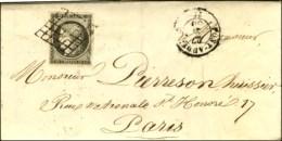Grille / N° 3 Gris-noir Càd T 15 PONT-AUDEMER (26) Sur Lettre Avec Texte Daté De Coutainville Le... - 1849-1850 Ceres