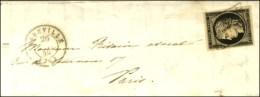 Grille / N° 3 Belles Marges Càd T 15 ABBEVILLE (76) 26 JANV. 49. - TB. - 1849-1850 Ceres