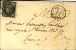 Grille / N° 3 (filet Inférieur Gauche Effleuré Non Touché) Càd T 15 VILLE D'AVRAY... - 1849-1850 Ceres