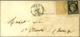 Càd Bleu PARIS (60) 3 JANV. 49 / N° 3 Grand Bdf Intégral (leg Def) Sur Lettre Avec Texte Pour St... - 1849-1850 Ceres