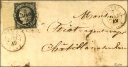 Càd T 15 BONNY (43) 2 JANV. 49 (2 Frappes) Sur Lettre Affranchie Pour Châtillon Sur Loire. A... - 1849-1850 Ceres