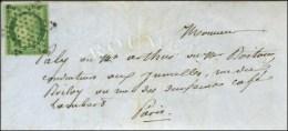 Etoile / N° 2 Sur Lettre Avec Texte De Paris Pour Paris, Au Verso Càd D'arrivée 5 MAI 52. - TB /... - 1849-1850 Ceres