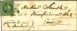 Etoile / N° 2 Superbes Marges Sur Lettre Avec Texte De Paris Pour Paris. Au Verso, Càd D'arrivée... - 1849-1850 Ceres
