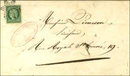 Etoile / N° 2 (infime Froissure) Sur Lettre De Paris Pour Paris, Au Verso Càd D'arrivée 1852. -... - 1849-1850 Ceres