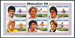 """1994 Sierra Leone """"Etats Unis"""" Coppa Del Mondo World Cup Calcio Football Block MNH** RR75 - Sierra Leone (1961-...)"""