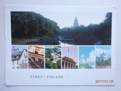 Postcard Turku Finland Multiview My Ref B248 - Finlandia