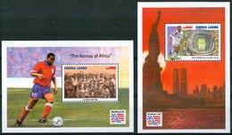 "1994 Sierra Leone ""Etats Unis"" Coppa Del Mondo World Cup Calcio Football Set 2 Block MNH** RR77 - Sierra Leone (1961-...)"