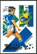 """1989 Sierra Leone """"Italia 90"""" Coppa Del Mondo World Cup Coupe Du Monde Calcio Football Block MNH** RR80 - Sierra Leone (1961-...)"""