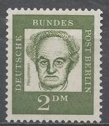 Berlin 1962. Scott #9N190 (M) Gerhart Hauptmann * - Unused Stamps