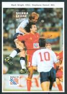 """1993 Sierra Leone """"Etats Unis"""" Coppa Del Mondo World Cup Calcio Football Block MNH** RR79 - Sierra Leone (1961-...)"""