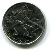 2008 Canada Vancouver 2010 Winter Olympics Commemorative 25c Coin - Canada