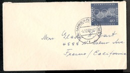 Germany1960:Michel335  Ef Cover(Olympics) To California  Cat.Value12Euros - [7] République Fédérale