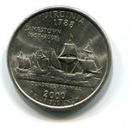 2000 USA Virginia 25c  Coin - Federal Issues