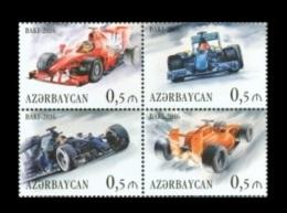 Azerbaïjan 2016 Mih. 1161/64 Formula 1. European Grand Prix In Baku MNH ** - Azerbaïdjan