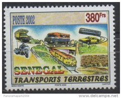 Sénégal 2002/2004 - 380 F Car Bus Autobus Omnibus Moto Motorrad Motorbike Train Eisenbahn Zug ** MNH RARE Scarce