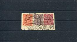 17740 Germany, Fragment !! (cm. 7X3,5)1922 Schwenningen Neckar,28th Wurrttemb.landesschiessen 1922 - Allemagne