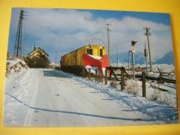 TRAIN 4388 - FONT ROMEU-ODEILLO VIA 66... UNITE CHASSE NEIGE DES AUTOMOTEURS Z 201 ET 202 1988 (SCANS RECTO/VERSO) - Trains
