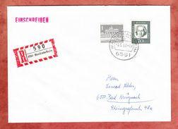 Einschreiben Reco, EF Beethoven, Beigeklebt Brandenburger Tor, Waldboeckelheim Nach Bad Kreuznach 1963 (34772) - BRD