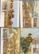 MAXIMUM CARD PAINTINGS  MILITARIA FIGHT BRIDGE..maximum Card Painting ROMANIA - Art