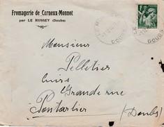 Enveloppe à Entête 1910 / Fromagerie De Cerneux Monnot / Par Le Russey / Doubs - Karten