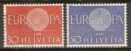 SUISSE      -   1960.   Y&T N° 666 à 667 Oblitérés .   EUROPA - Switzerland