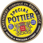 ETIQUETTE DE  CAMEMBERT POTTIER LIVAROT 14 AQ - Cheese
