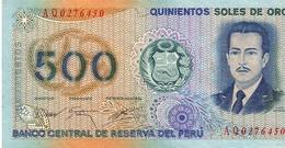 Peru P.115  500 Soles 1976  Au - Perù
