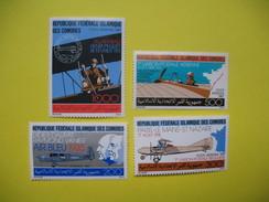 """Comores-Série Complète,4 Timbres Neuf ** ,poste Aérienne,""""L´avion Et La Poste"""" 1987 - N° 247 à 250 - Comores (1975-...)"""