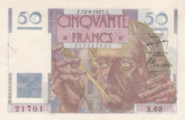 50 Francs Le Verrier Du 12 06 1947  Ref  Fayette  20/08 Superbe - 1871-1952 Circulated During XXth