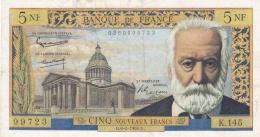5 Francs Victor Hugo  Ref  Fayette 56/18 - 1959-1966 Nouveaux Francs