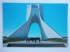 Postcard Teheran [ Tehran ] Iran Maydane Shahyad [ Now Azadi Tower ] C 1977  My Ref B256 - Iran