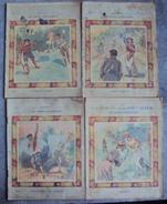 Lot 4 Cahier D'écolier Illustration  Des Années 1900. N° 7 - Old Paper