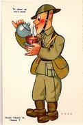 HUMORISTIQUE * ILLUSTRATEUR CASS * 1939/45 *  AVANT L´HEURE  H = L´HEURE  T...TO CHEER UP ONE´S MIND...... - Guerre 1939-45