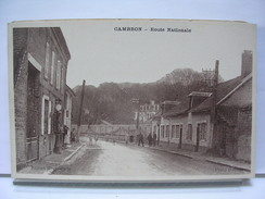80 - CAMBRON - ROUTE NATIONALE - ANIMEE - France
