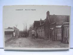 80 - CAMBRON - RUE DE L'EGLISE - ANIMEE - France