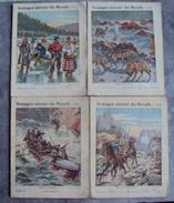 Lot 4 Cahier D'écolier Illustration  Des Années 1900. N° 9 - Vieux Papiers