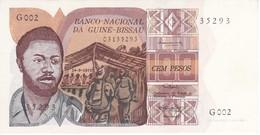 BILLETE DE GUINEA BISSAU DE 100 PESOS DEL AÑO 1975  (BANK NOTE) NUEVO SIN CIRCULAR - Guinea–Bissau