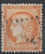 Lot N°33977   Variété/n°38, Oblit GC, Trait Blanc Perles NORD OUEST - 1870 Siege Of Paris
