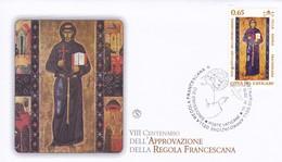 Vatikan, 2010, Mi: 1680 Franz Von Assisi - FDC