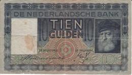 BILLETE DE HOLANDA DE 10 GULDEN DEL AÑO 1938 (BANKNOTE) - [2] 1815-… : Reino De Países Bajos
