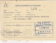 Avviso Di Ricevimento O Di Riscossione,anno 1984 - Marcophilie - EMA (Empreintes Machines)
