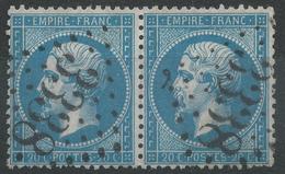 Lot N°33983   Paire Du N°22, Oblit GC 3338 LA LIVINIERE(33), Ind 23 Ou SAVERNE(67), Ind 4 - 1862 Napoleon III