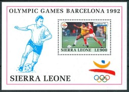 """1992 Sierra Leone """"Barcellona 92"""" Olimpiadi Olympic Games Jeux Olympiques Block MNH**  RR81 - Sierra Leone (1961-...)"""