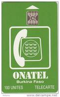 BURKINA FASO - Onatel Logo(green & White), Chip SC5, CN : C4C100971, Used - Burkina Faso