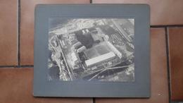 GRANDE PHOTO ANCIENNE COLLEE CARTON - CAMBRAI 59 NORD - BALLON DIRIGEABLE - AVIATION - MONTGOLFIÈRE - Luftfahrt