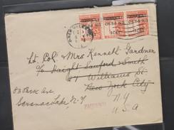 O) 1924 GUATEMALA, OVERPRINT, PAQUEBOT HONDURAS, PRESIDENT MIGUEL GARCIA GRANADOS, SCULPTURE, TO NEW YORK, XF - Guatemala