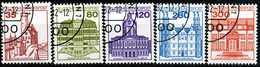 BRD - Michel 1139 A / 1143 A - OO Gestempelt (E) - Burgen & Schlösser V - Gebraucht