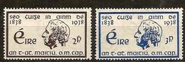 Irlande Ireland 1938 Yvertn° 73-74 (*) MLH Cote 10,50 Euro - 1922-37 Stato Libero D'Irlanda